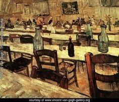 Interior Of A Restaurant In Arles - Vincent Van Gogh Reproduction