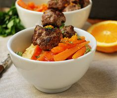 Moroccan Meatballs with Citrus-Glazed Carrots (paleo/primal)