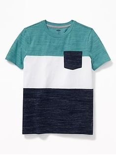 Old Navy Color-Blocked Pocket Tee for Boys Cool Shirts, Tee Shirts, Shop Old Navy, Men Formal, Skinny Fit Jeans, Boy Outfits, Shirt Designs, Mens Fashion, Boys