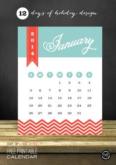 Elegance and Enchantment Printable Calendar