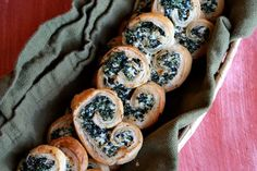 Baked Spinach Roll Appetizer. Add water chestnut for crunch!