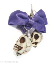 Skull & Bow Earrings