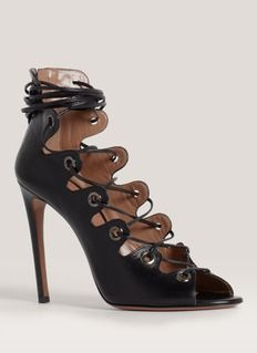 AZZEDINE ALAÏA Lace-up high-heel sandals