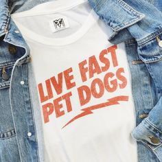 Live fast pet dogs t-shirt ⚡️