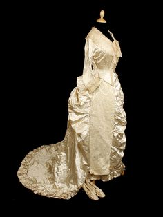 1880s Wedding dress from Bonham's.