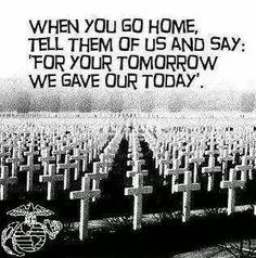 Thank you for this sacrifice.
