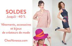 Soldes jusqu'à -40 % sur ChezVanessa.com, e-shop de jeunes créateurs de mode