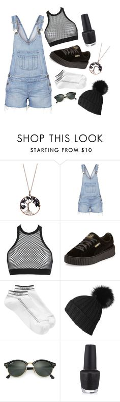 """""""Cute"""" by crystalgrinder ❤ liked on Polyvore featuring Braided Birch, Paige Denim, Dsquared2, Puma, Calvin Klein, Black, Ray-Ban, OPI, cute and casual"""