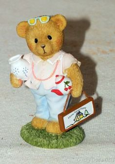 Cherished Teddies Bear Girl with Teapot 4033957 Clearance
