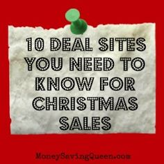 Must remember for Christmas!! 10 Sites You Should Know for Christmas Deals