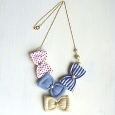 New origami bow unique 70 Ideas Bow Necklace, Fabric Necklace, Fabric Jewelry, Textile Jewelry, Origami Jewelry, Diy Jewelry, Handmade Jewelry, Jewelry Making, Jewellery