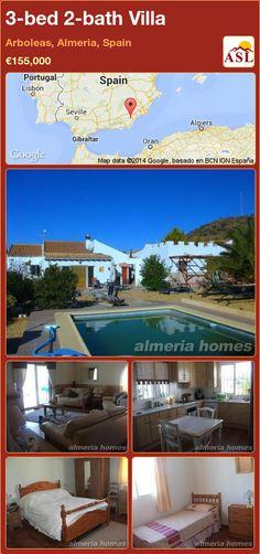 3-bed 2-bath Villa in Arboleas, Almeria, Spain ►€155,000 #PropertyForSaleInSpain