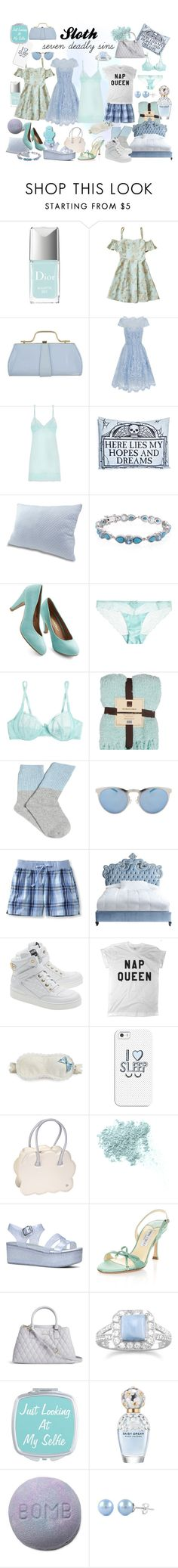 """Sloth"" by teenageprincessgirl ❤ liked on Polyvore featuring Christian Dior, Chi Chi, Heidi Klum Intimates, Sourpuss, Illesteva, L.L.Bean, Haute House, Moschino, L'Agent By Agent Provocateur and Casetify"