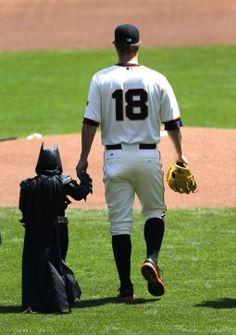 Matt Cain and BatKid