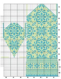 """As of late, I've been playing with and redesigning one of the mittens in """"Latvian Mittens"""" by Lizbeth Upitis (published by School House Press). The graphs in the book are very inc… Knitted Mittens Pattern, Fair Isle Knitting Patterns, Knit Mittens, Knitting Charts, Knitted Gloves, Knitting Stitches, Knitting Designs, Knitting Socks, Knitting Projects"""