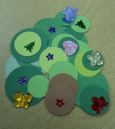 for our circles unit.... tree door decoration to go along with our circle ornament activity