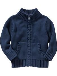 Uniform Zip-Front Sweaters for Baby Toddler Boy Outfits, Toddler Boys, Girl Outfits, Baby Kids, Toddler School Uniforms, School Uniform Fashion, Boys Sweaters, Black Zip Ups, Baby Boy Fashion