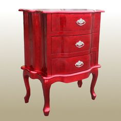 painted red furniture