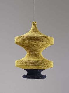 hand crocheted pendant lamps