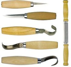 woodcarving knives | Erik Frost Wood Carving Knife Set | Green Shopping