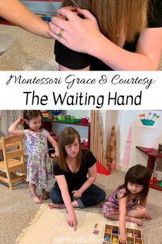 Montessori Grace & Courtesy: The Waiting Hand Friends, I have a little Montessori grace and courtesy trick that is going to CHANGE. Grace and courtesy is an actual part of the Montessori curriculum basically, it teaches Montessori Baby, Montessori Education, Montessori Classroom, Montessori Activities, Montessori Bedroom, Montessori Elementary, Montessori Materials, Baby Education, Preschool Math