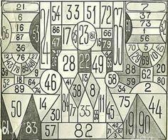 В СССР существовала таблица для проверки наблюдательности «Занимательная таблица»