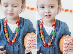 ribbons + cherrios + gummie lifesavers= kid's diy candy necklaces. So cute for a little kid bday party