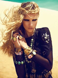 Nomad Royalty | Marcelina Sowa | Kevin Sinclair #photography | Grazia UK June 2012