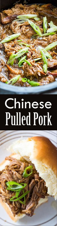 Slow Cooker Chinese Pulled Pork Recipe | SimplyRecipes.com ~ SimplyRecipes.com