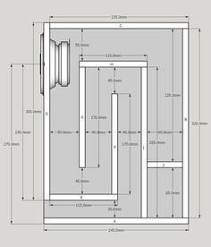kbh-unten-34-245-abmessungen_483944 Diy Subwoofer, Subwoofer Box Design, Speaker Box Design, Audio Box, Hifi Audio, Car Audio, Woofer Speaker, Speaker Amplifier, Diy Speakers