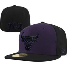 Chicago Bulls Fashion New Era 59FIFTY NBA Team Exclusive Fitted Hat - Purple $36.99