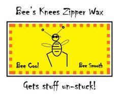 Bee's Knees Zipper Wax
