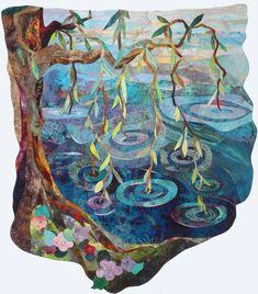 Promise of Spring! Art quilt by Vikki Pignatelli