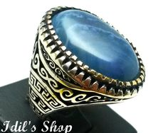 Men's Ring Turkish Ottoman Style Jewelry 925 Sterling by IdilsShop