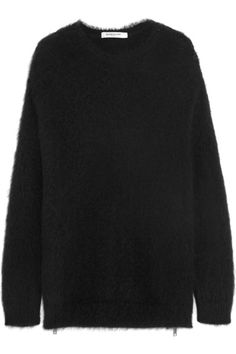Givenchy | Sweater in black mohair-blend with side zips | NET-A-PORTER.COM