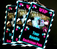 "Photo 4 of 59: Rockstar Birthday / Birthday ""Jenna's 7th Birthday Tour"" | Catch My Party"
