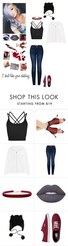 """""""CreepyPasta OC #1"""" by kristina-shadowheart ❤ liked on Polyvore featuring Sweaty Betty, True Religion, 2LUV, Humble Chic, Lime Crime, Vans and KRISVANASSCHE"""