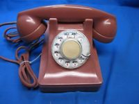WESTERN ELECTRIC MODEL 302,  COLOR ROSE, ROTARY TELEPHONE