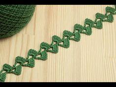 Вязание крючком для начинающих ЛЕНТОЧНОЕ КРУЖЕВО crochet lace - YouTube