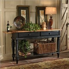 Hillsdale Furniture 4509SB Wilshire Table Sideboard by Hillsdale Furniture. $629.00. Belongs to Wilshire Collection. Finished in Pine, Rubbed Black. Made of Wood. Finish:Rubbed Black The Wilshire collection features a blend of cottage styling with country accented details. The blend of Americana and English Country gives the Wilshire collection a look and feel that will enhance any home. The craftsmanship is evident in each piece. Opening a drawer is a reflection of old wo...