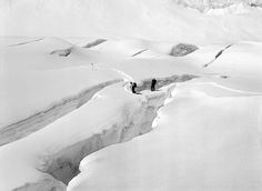 Crevasse - The Western Cwm    Courtesy of Alfred Gregory Archive. Source Photographica. All rights reserved.