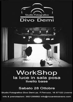 Riccardo Lubrano Photo: Workshop la luce in sala posa