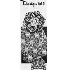 Crochet this medallion pattern, in the star or flower motif, and join to form cloths, scarfs, runners, bedspread .... or whatever your heart desires.
