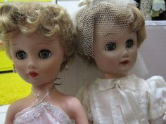 """Vintage Dolls. My sister and I had dolls like this that we called our """"lady dolls"""". Pre-Babries but not as hideous."""