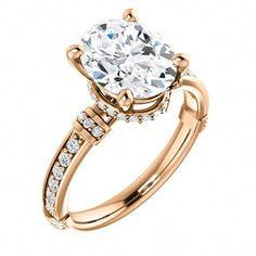 9595d41e4 2.0 Ct Oval Diamond Engagement Ring 14k Rose Gold – Goldia.com  #idealdiamondengagementrings #