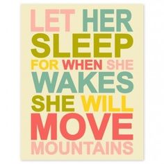 This is perfect to put on the wall of a baby girls nursery. Or just in a little girls bedroom. One day!