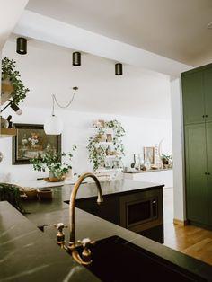green kitchen makeover