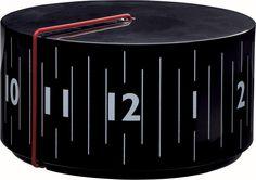 Round clock by Lexon