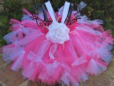 Petti Tutu Dress/Skirt  TINY BONBON ROSE  Empire by ElsaSieron, $45.00