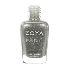 Zoya Nail Polish in London can be best described as a fog gray with a sugared sparkle, in the exclusive Zoya PixieDust Matte Sparkle formula.